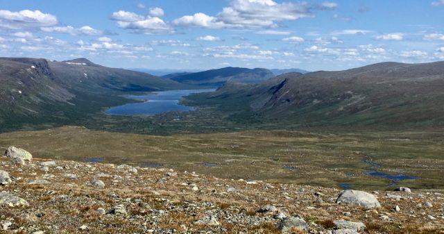 Utsikt fra Fisketjernnuten i Østre Slidre