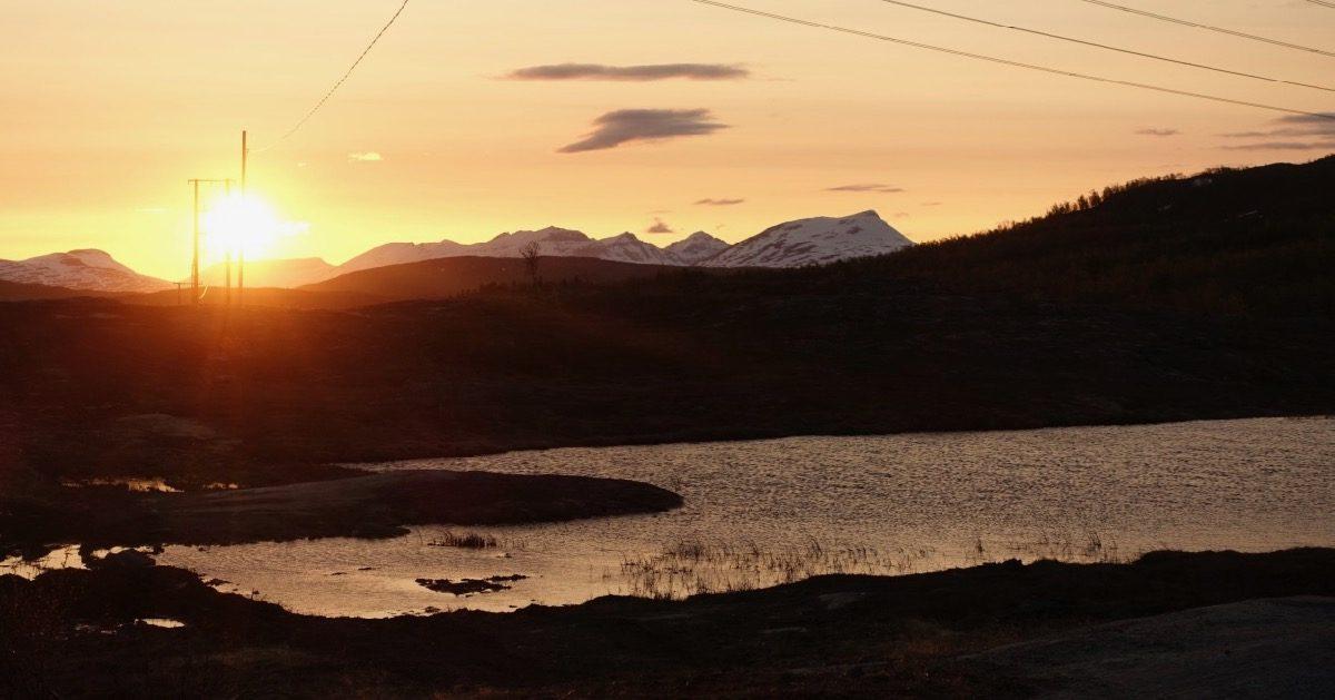 Midnattsol i Balsfjord