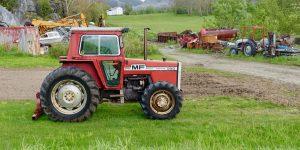 Traktor i Beiarn