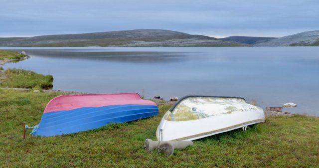 Båter på land i Berlevåg kommune