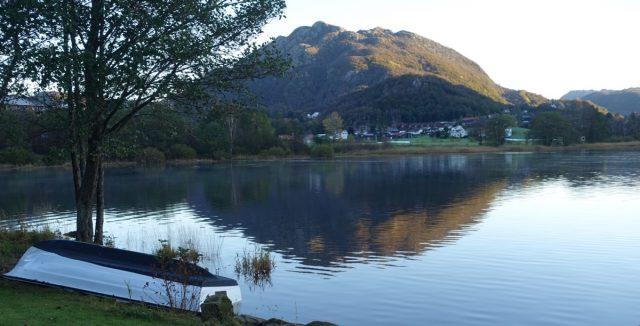 Utsikten i Vikeså en tidlig morgen