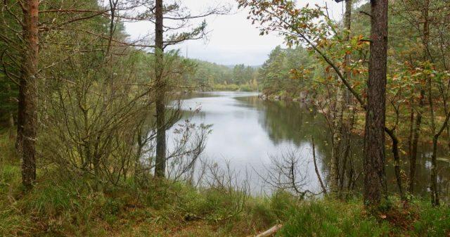 Koselige småvann langs stien i Flekkefjord