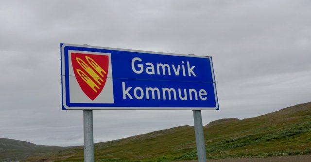 Gamvik kommuneskilt