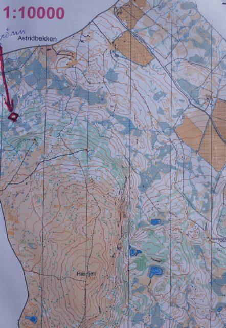 Orienteringskart i Gausdal