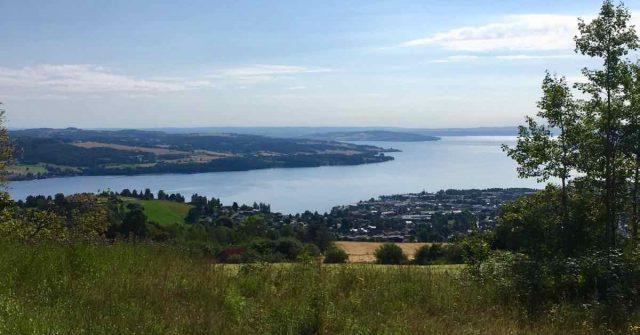 Utsikt fra Bergstoppen i Gjøvik