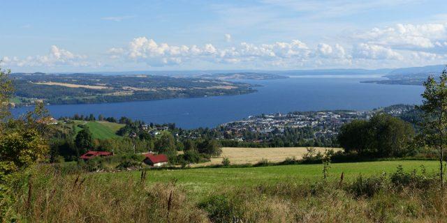 Utsikt over Mjøsa nær Gjøvik