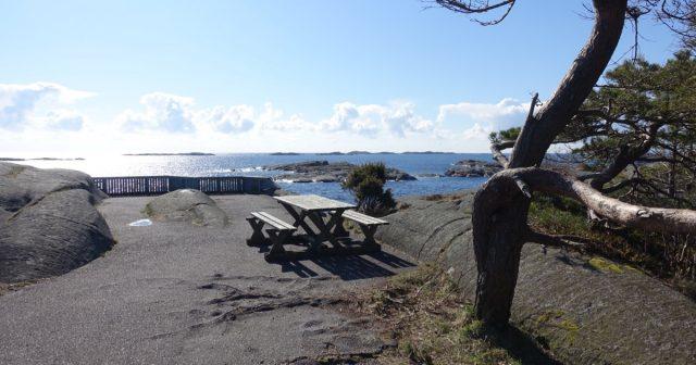 Utsikt på Haslertangen i Grimstad