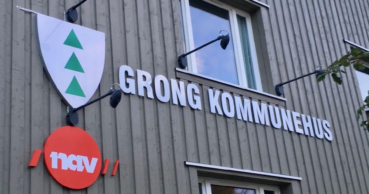 Nav og kommune i Grong.