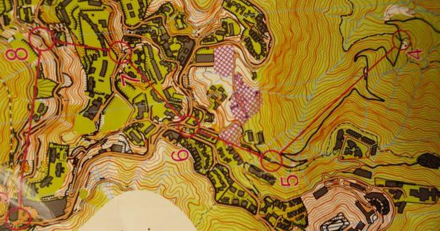 The Peak orienteering map