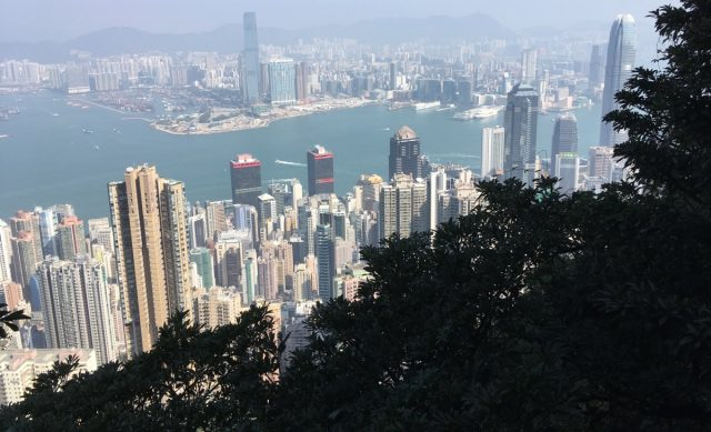 Lugged Road in Hongkong