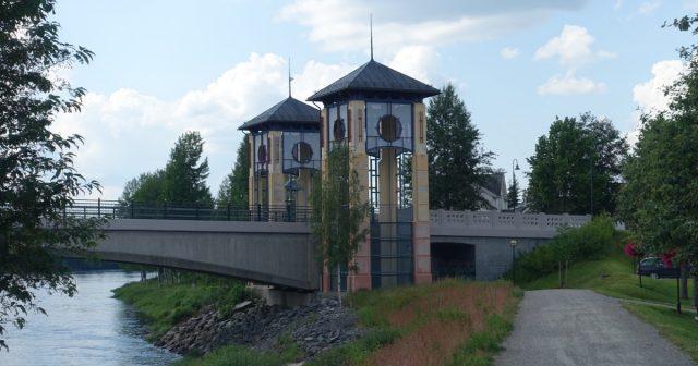 Bro over Glomma i Kongsvinger