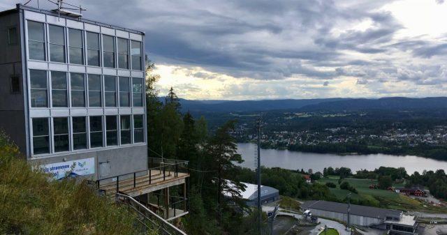 Utsikt fra toppen av Vikersundbakken