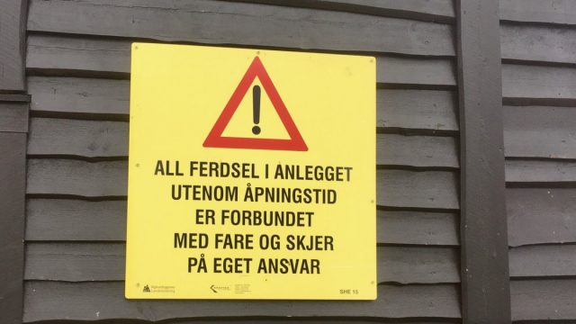 Skilt i Narvik