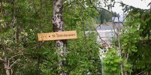 Skilt Oldtidsveien i Nordre Follo