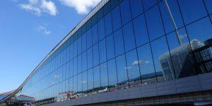 Speilvegg på Oslo Lufthavn