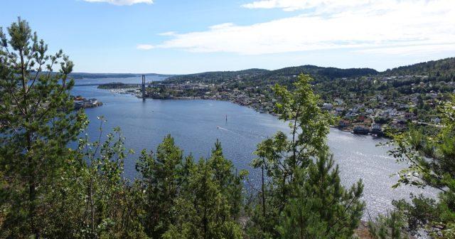 Utsikt i Brevik i Porsgrunn kommune