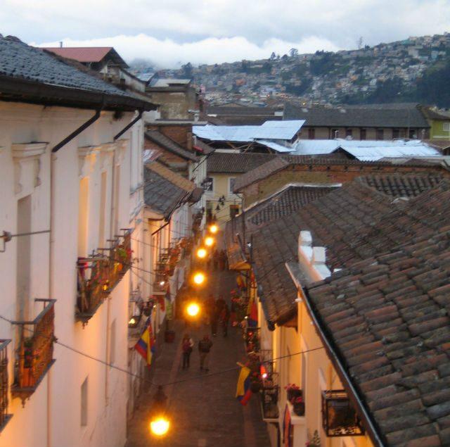 La Ronda i det historiske sentrum av Quito er byens vakreste gate