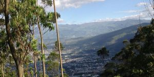 Utsikt over deler av Quito i Ecuador