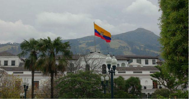 Regjeringsbygget i det historiske sentrum av Quito.