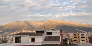Utsikt fra leiligheten i Quito
