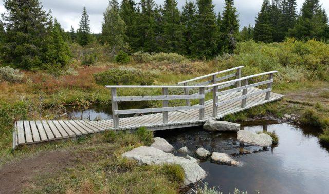 Bro i enden på Sjusjøen