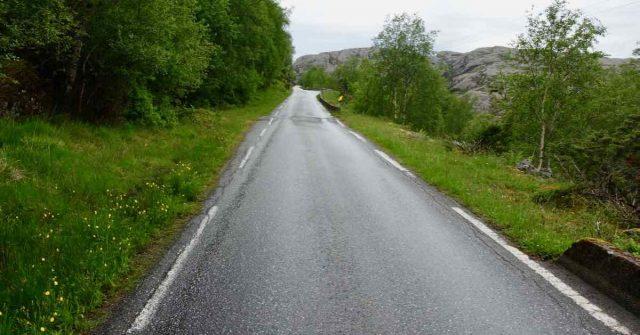 Øde veg i Solund