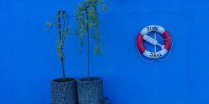 Blå vegg i Sortland