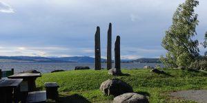 Skulptur ved Mjøsa i Stange