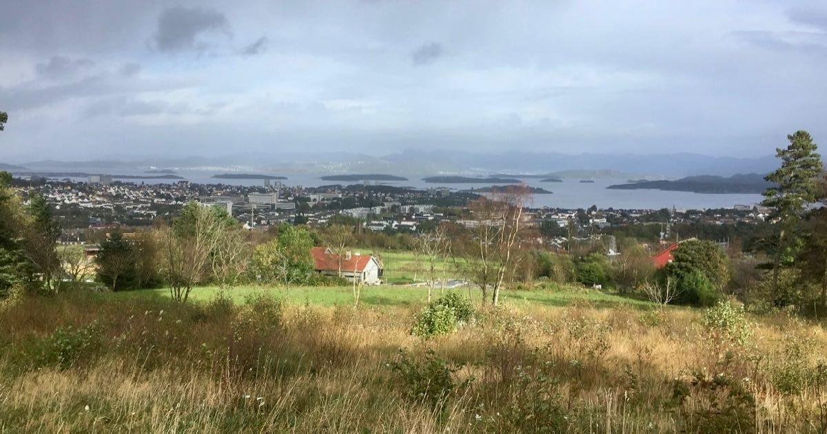 Utsikt mot havet fra Ullanhaug i Stavanger