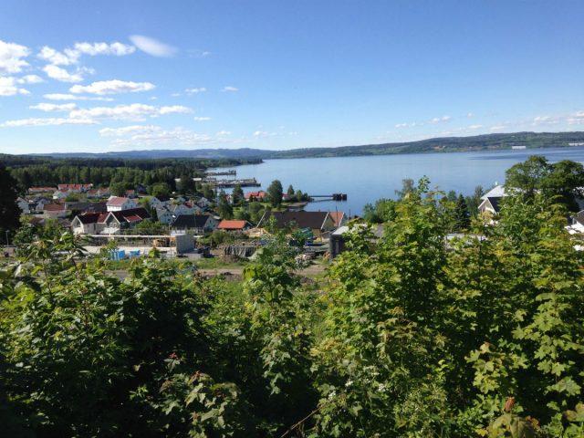 Utsikt over Mjøsa ved Kapp