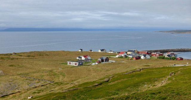 Utsikt Ekkerøya i Vadsø