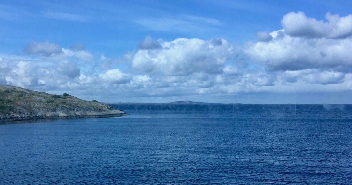 Blått hav i Vega