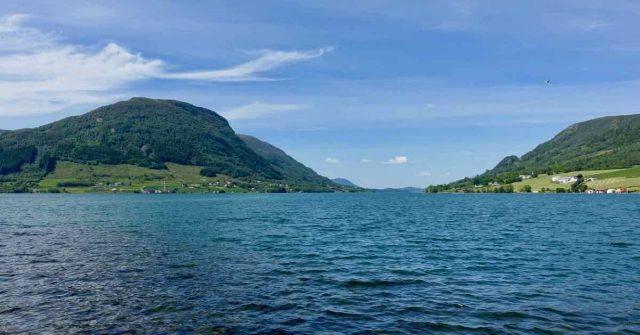 Utsikt over havet i Vindafjord